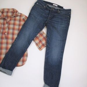 New Loft 28 / 6 Boyfriend Fit Ankle Jeans Roll Up